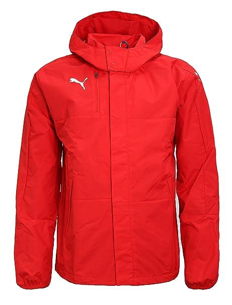 0afc7b8ea548 PUMA Mens Rain Jacket Veloce Windbreaker Hooded Raincoat Sports Jacket  654640 (Medium) Red