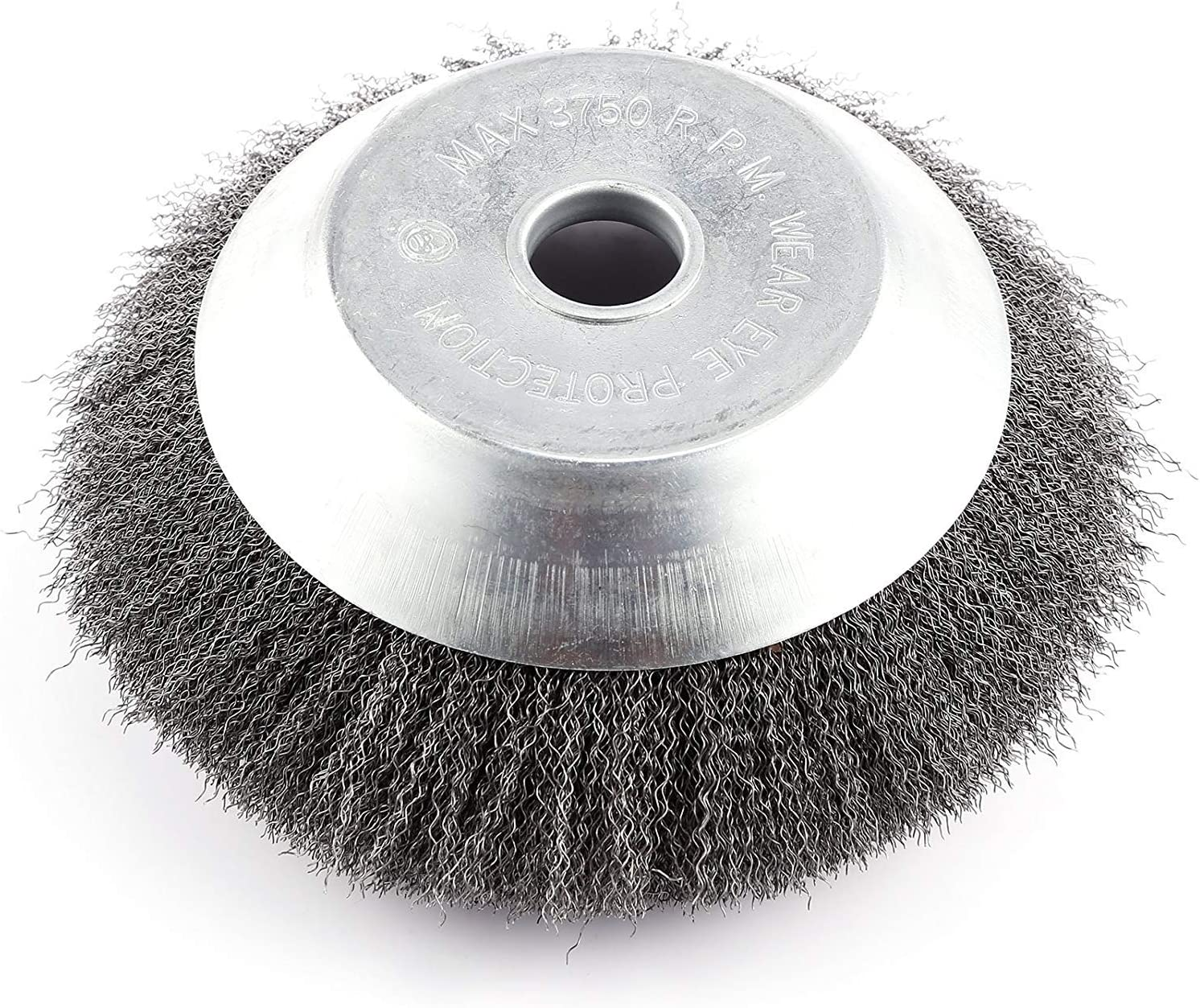 6 inch Rotary Weed Brush Joint Twist Knot Steel Wire Wheel Brush Disc Trimmer Head 25mm x 150mm Universal fit Straight Shaft Trimmer