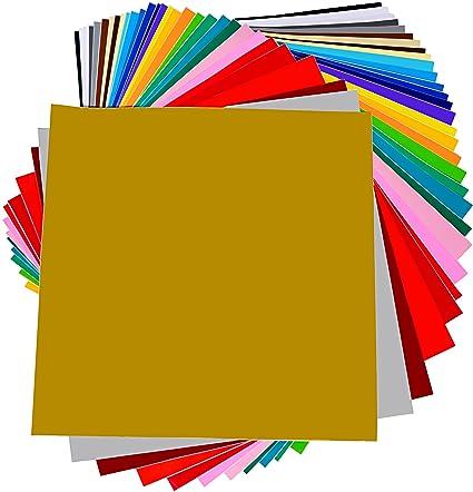 Amazon.com: Permanent Adhesive Backed Vinyl 40 SHEETS - PrimeCuts ...