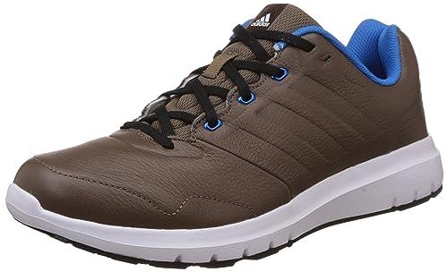 e222fc5d80f7 Adidas Men s Duramo Trainer Lea Grey and Blue Leather Multisport Training  Shoes ...
