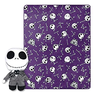 """Disney The Nightmare Before Christmas 40""""x50"""" Throw Blanket and Pillow: Home & Kitchen"""