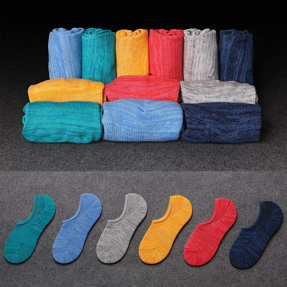 Calcetines de hombre antideslizantes de algod/ón de corte bajo,Calcetines Invisibles Cortos