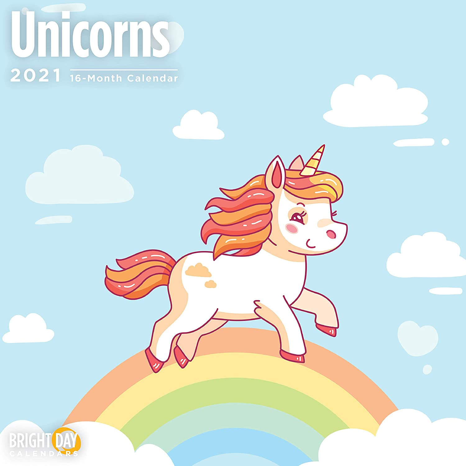 2021 Unicorns Wall Calendar by Bright Day, 12 x 12 Inch, Magical Imagination for Kids and Family