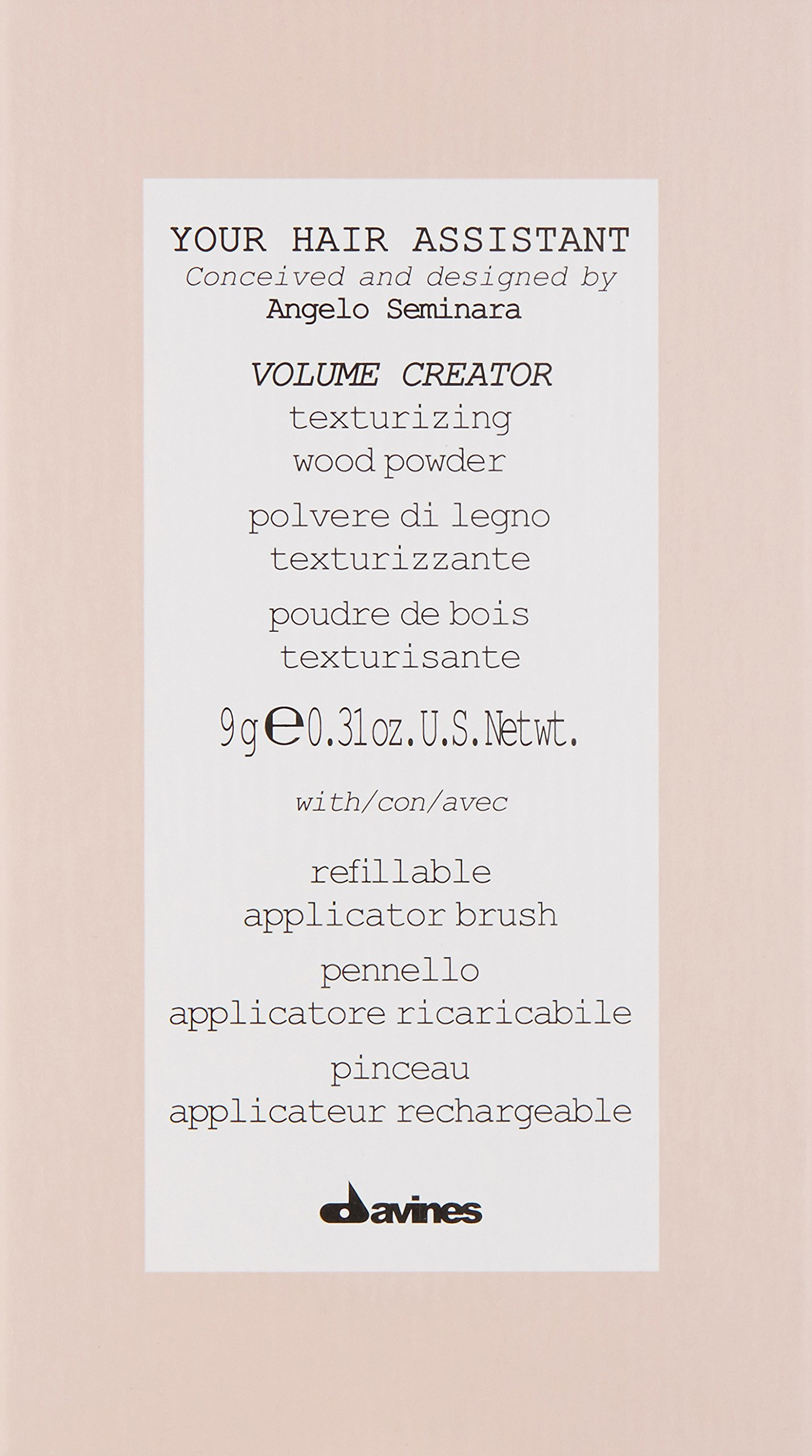 Davines Duo Pack, Your Hair Assistant Volume Creator and Brush by Davines (Image #3)