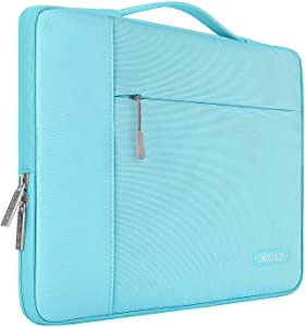 MOSISO Laptop Sleeve Compatible with 13-13.3 inch MacBook Air, MacBook Pro, Notebook Computer, Polyester Multifunctional Briefcase Carrying Bag, Hot Blue