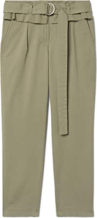 Derek Lam 10 Crosby Malia High-Waist Paper Bag Trouser Military