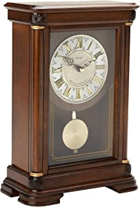 Seiko Traditional Elegance Mantel Clock with Pendulum and Chime