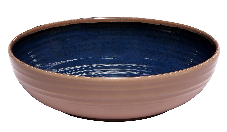 Melange 6-Piece 100 Percent Melamine Pasta Bowl Set, Clay Collection, Green Ruby Compass Melamine 612409791214