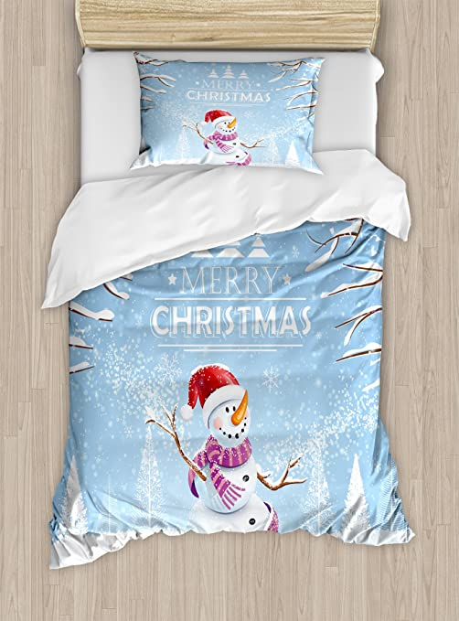 Brand New Frosty Friends Christmas double Duvet set