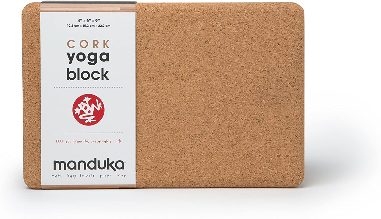 Amazon.com: Manduka Cork Yoga Block: Sports & Outdoors
