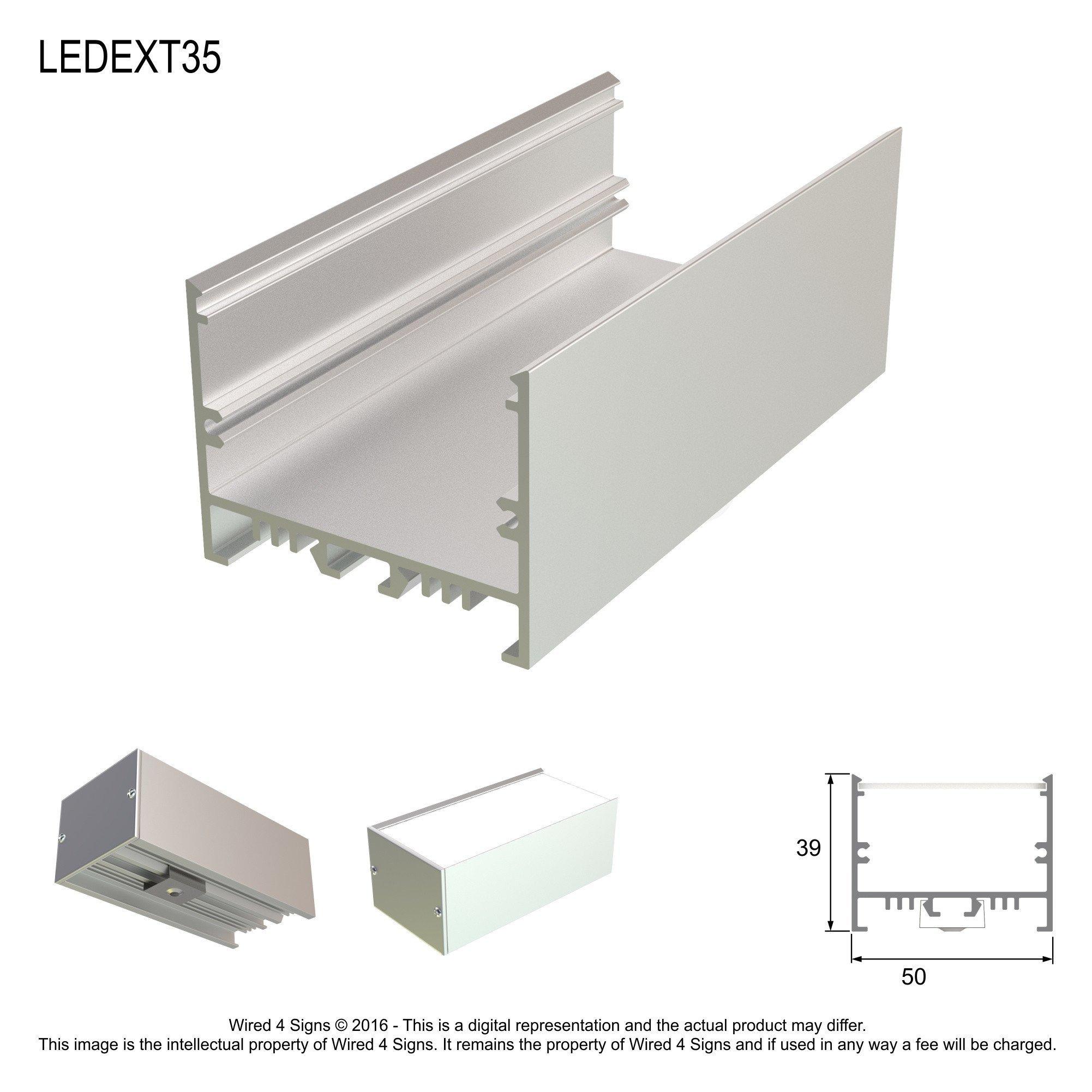 Rectangular LED Linear Pendant- Model A35 [Profile Only]