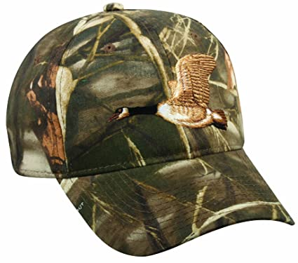 b2229ddebbaa4 Image Unavailable. Image not available for. Color  Outdoor Cap Embroidered  Goose on Camo Cap