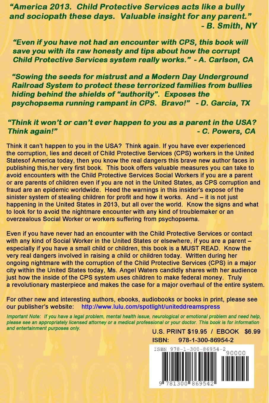 Stealing Kids for Money: Cps Fraud Exposed: Angel Waters