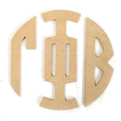gamma phi beta sorority 8 round wood monogram letter set gamma phi