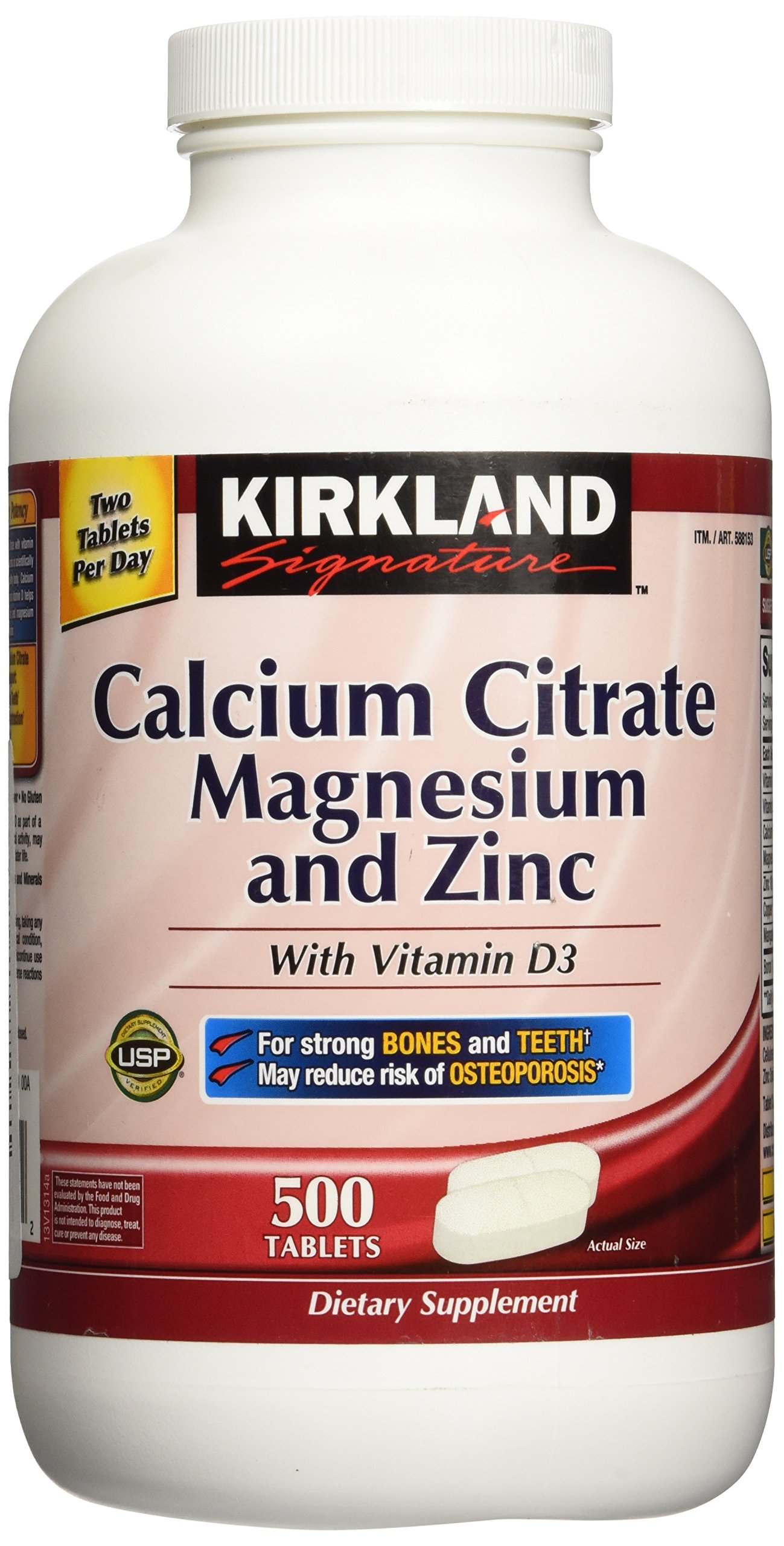 kirkland calcium signature citrate vitamin 500mg tablets amazon mg glucosamine bottle strength chondroitin d3 sulfate extra 1200mg supplement magnesium supplements