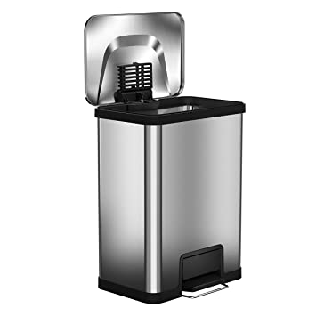 High Quality Halo AirStep 13 Gallon Kitchen Trash Can U2013 Stainless Steel Step Trash Can  With Deodorizer U2013
