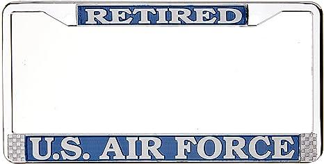 Air Force Woman Veteran Chrome License Plate Frame U.S
