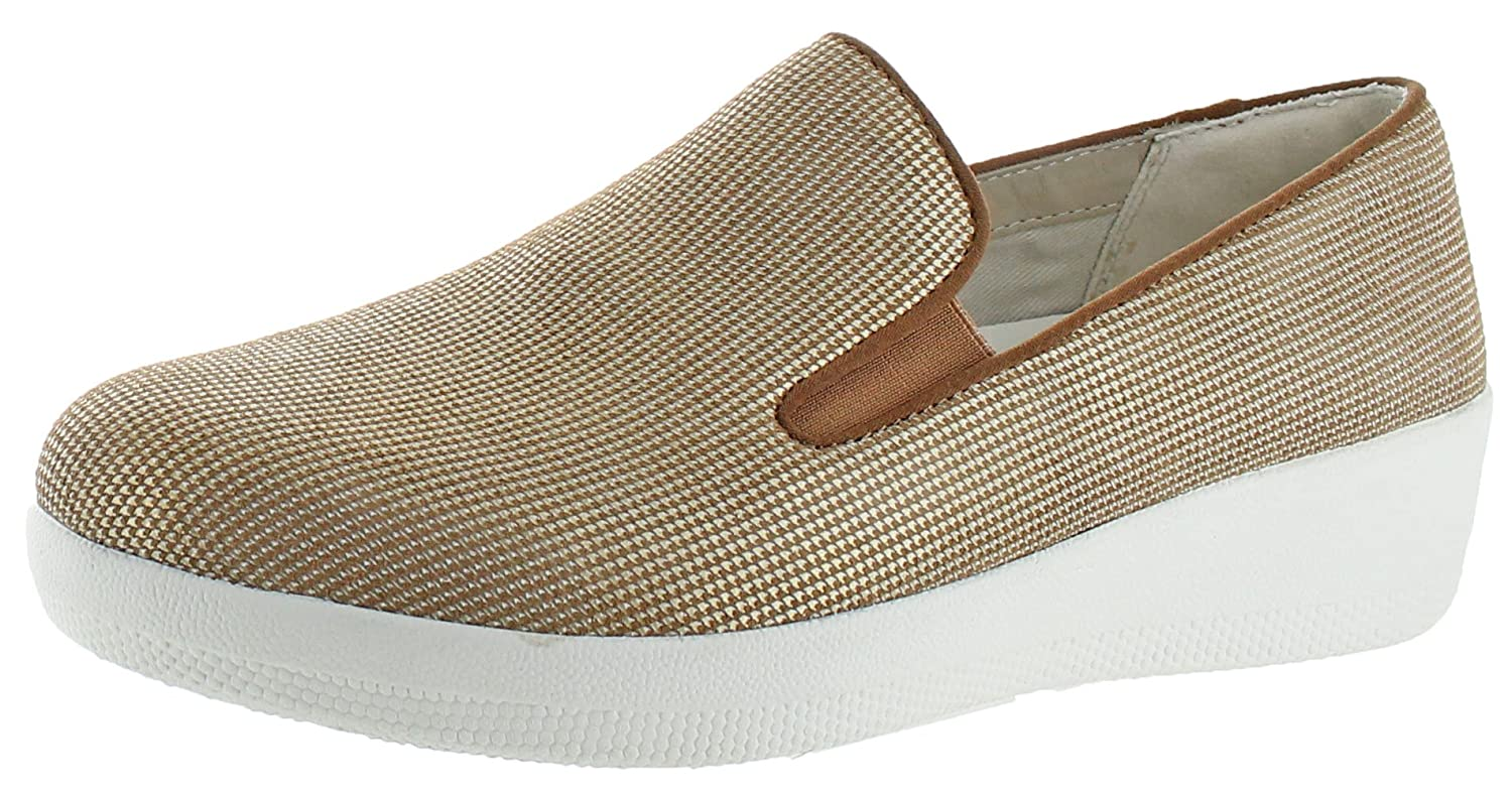 4f8a8a52aefe FITFLOP. FITFLOP WOMENS SUPERSKATE HOUNDSTOOTH PRINT SUEDE LOAFERS SLIP-ON
