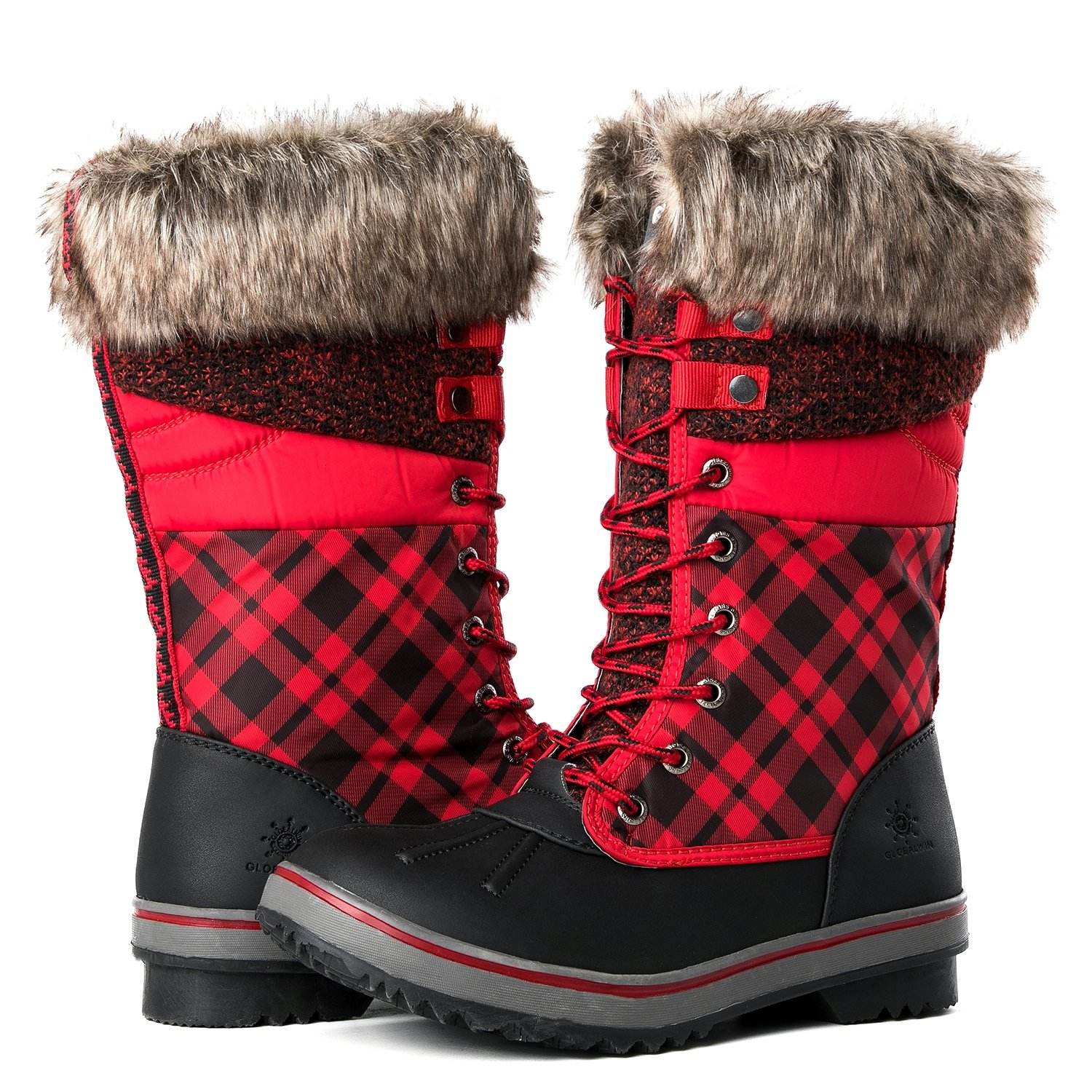 Global Win B075DGJ7WF GLOBALWIN Women's 1730 Winter Snow Boots B075DGJ7WF Win 9.5 B(M) US|1733black/Red a28cd1