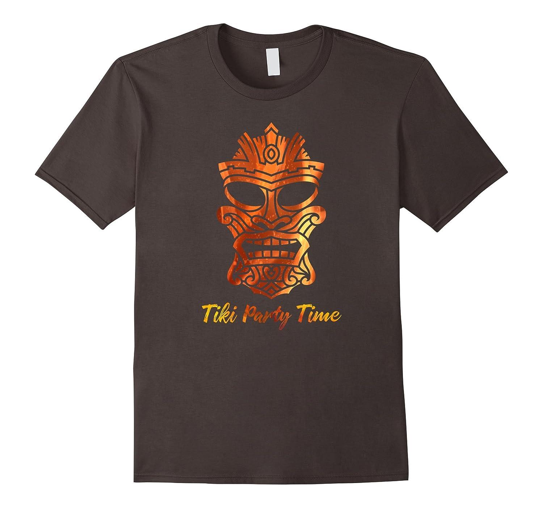 Cool Fire Tiki Party Time Hawaiian Luau Tropical Bar T Shirt