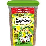 TEMPTATIONS Mix-Ups Cat Treats, Catnip (Chicken, Catnip & Cheddar Flavour), 454g Tub