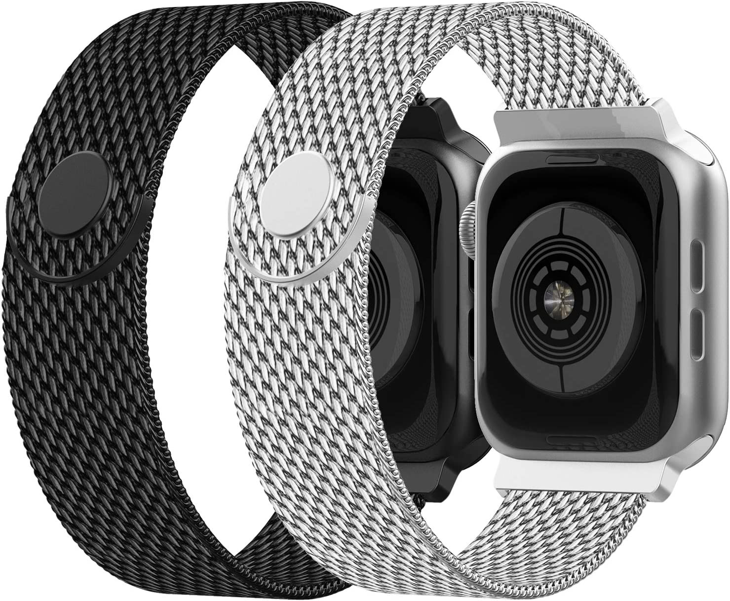 iGK Compatible with Apple Watch Band 38mm 40mm 42mm 44mm, Stainless Steel Mesh Loop Replacement Wristbands Compatible for iWatch Series 5 4 3 2 1