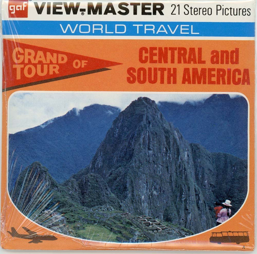 Classic ViewMaster- Grand Tour of Central and South America- ViewMaster Reels 3D- unsold store Stock- Never Opened