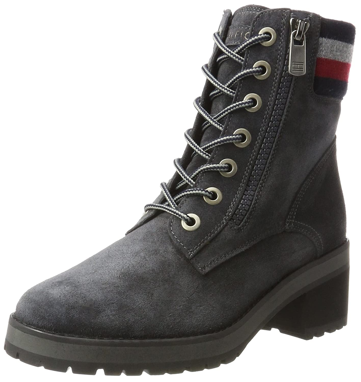 Tommy Hilfiger A1285licia 1b - Botines Chukka Mujer Gris (Magnet)