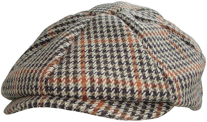 efc1b8f6 Hawkins Mens Baker Boy Flat Cap: Amazon.co.uk: Clothing