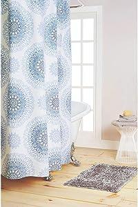 "Nicole Miller Darby Cotton Shower Curtain, 72""x72"", Multi"