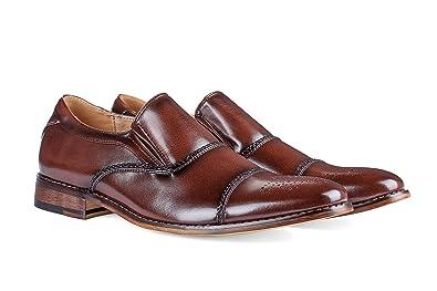 739db8dfe36 Gino Vitale Men s Cap Toe Brogue Loafers