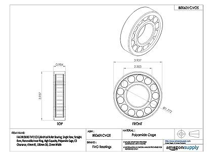 NUP2309ETVP2C3 FAG New Cylindrical Roller Bearing