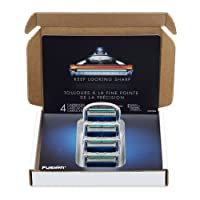 Gillette Fusion Manual Mens Razor Blade Refills 4 Count Deals