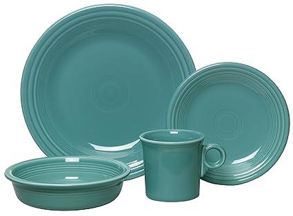 Fiesta 4-Piece Dinnerware Place Setting Turquoise  sc 1 st  Amazon.com & Amazon.com   Fiesta 4-Piece Dinnerware Place Setting Turquoise ...