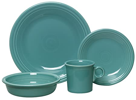 Fiesta 4-Piece Dinnerware Place Setting, Turquoise