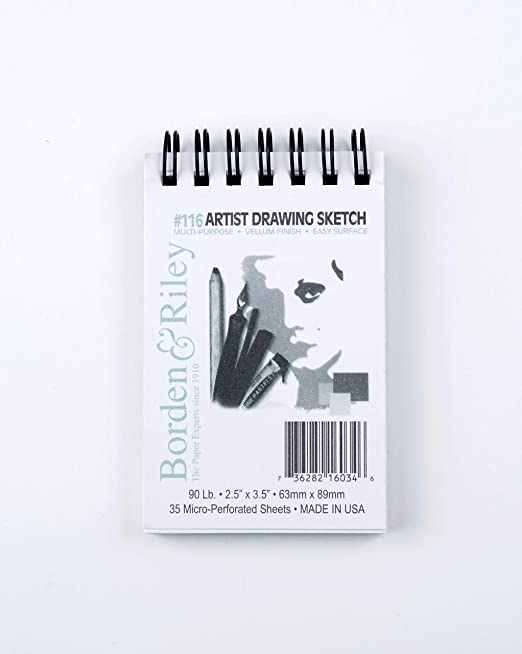 Borden /& Riley #116 Artist Drawing//Sketch Vellum Clothbound Pads 14 in x 17 in 40 sheets