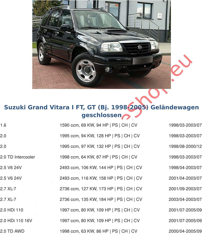 Suzuki Grand Vitara di 1998/a 2004//gancio collo di cigno smontabile con strumenti Rimorchio con fascio 13/pin