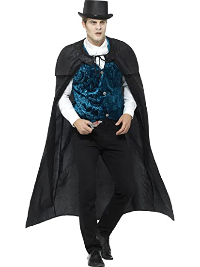 Victorian Men's Costumes: Mad Hatter, Rhet Butler, Willy Wonka Smiffys Mens Deluxe Victorian Jack The Ripper Costume $48.41 AT vintagedancer.com