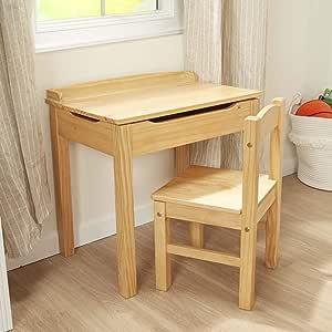 Melissa & Doug Child's Lift-Top Desk & Chair - Honey