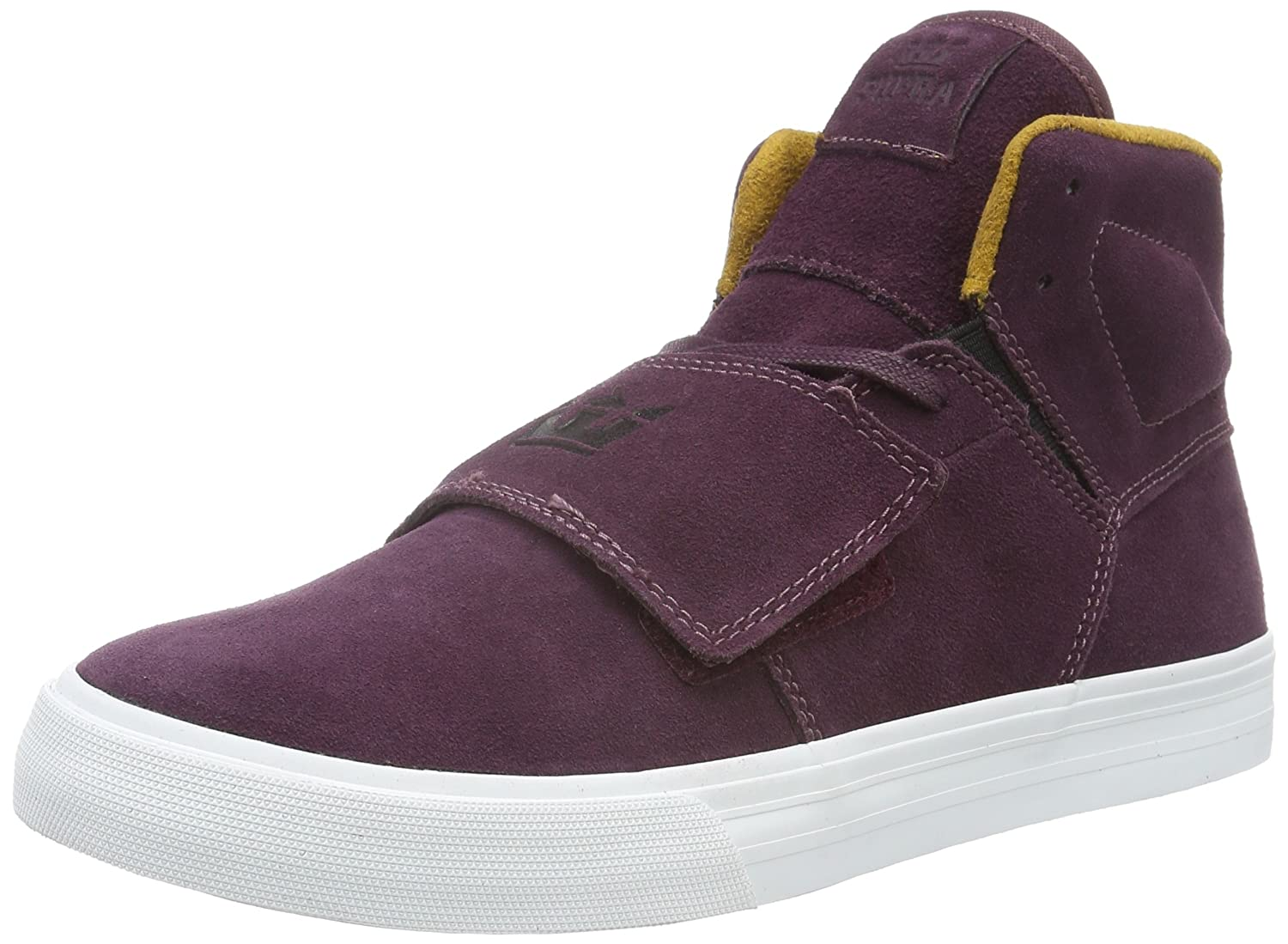 Supra Herren Rock High-Top, Rot (Burgundy/Gold-White 656), 43 EU