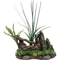 Marina Driftwood Rock Plants Betta decoración de Acuario, tamaño Mediano