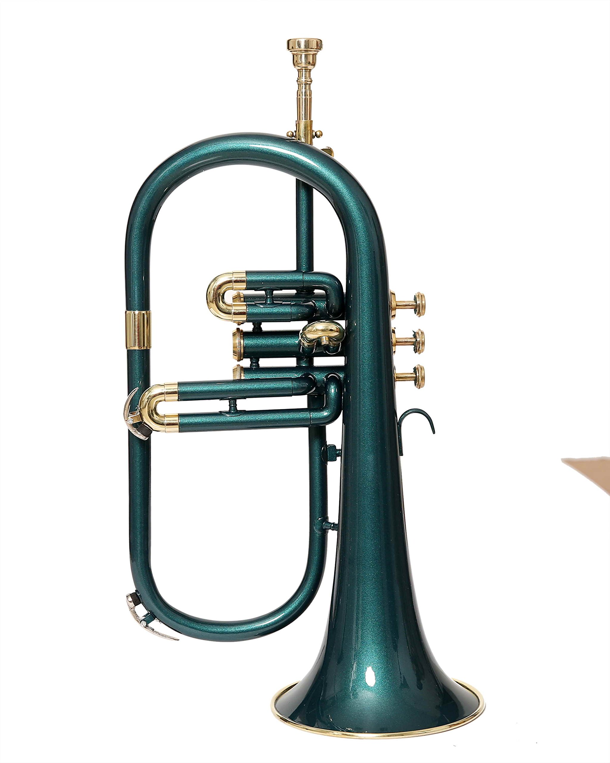 Moonflag eMusicals Flugel Horn Bb Pitch With Free Hard Case And Mouthpiece, Green Lacquered by NASIR ALI (Image #5)
