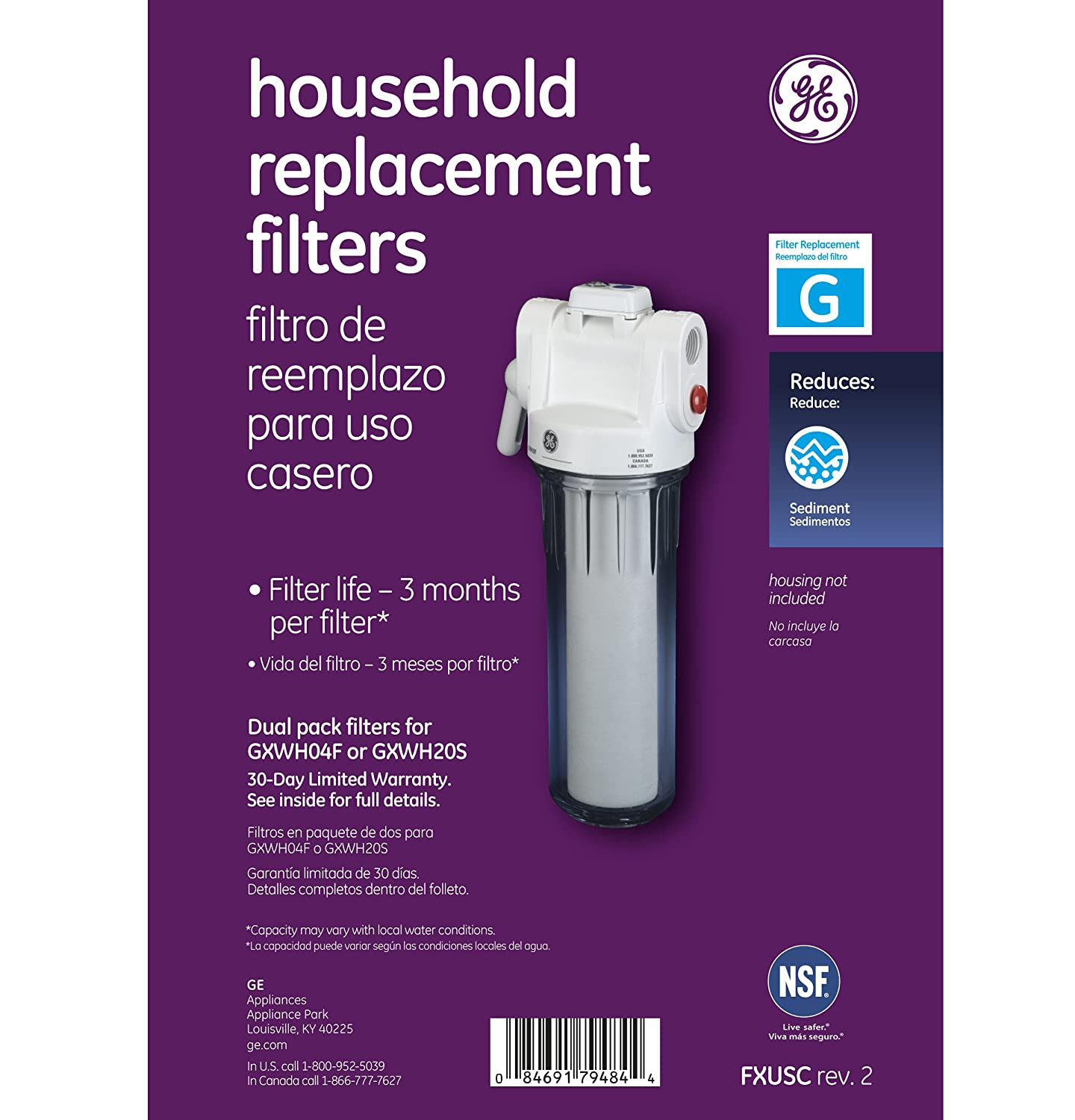 Amazon ge fxusc whole home system replacement filter set home amazon ge fxusc whole home system replacement filter set home improvement publicscrutiny Gallery