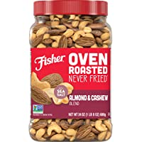 FISHER Snack Oven Roasted Never Fried Almond & Cashew Blend, 24 Oz, Made With Sea Salt
