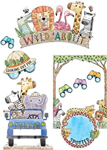 Creative Teaching Press Safari Friends Wild About Bulletin Board (Room Displays and Decoration for Classrooms, Learning Spaces and More)