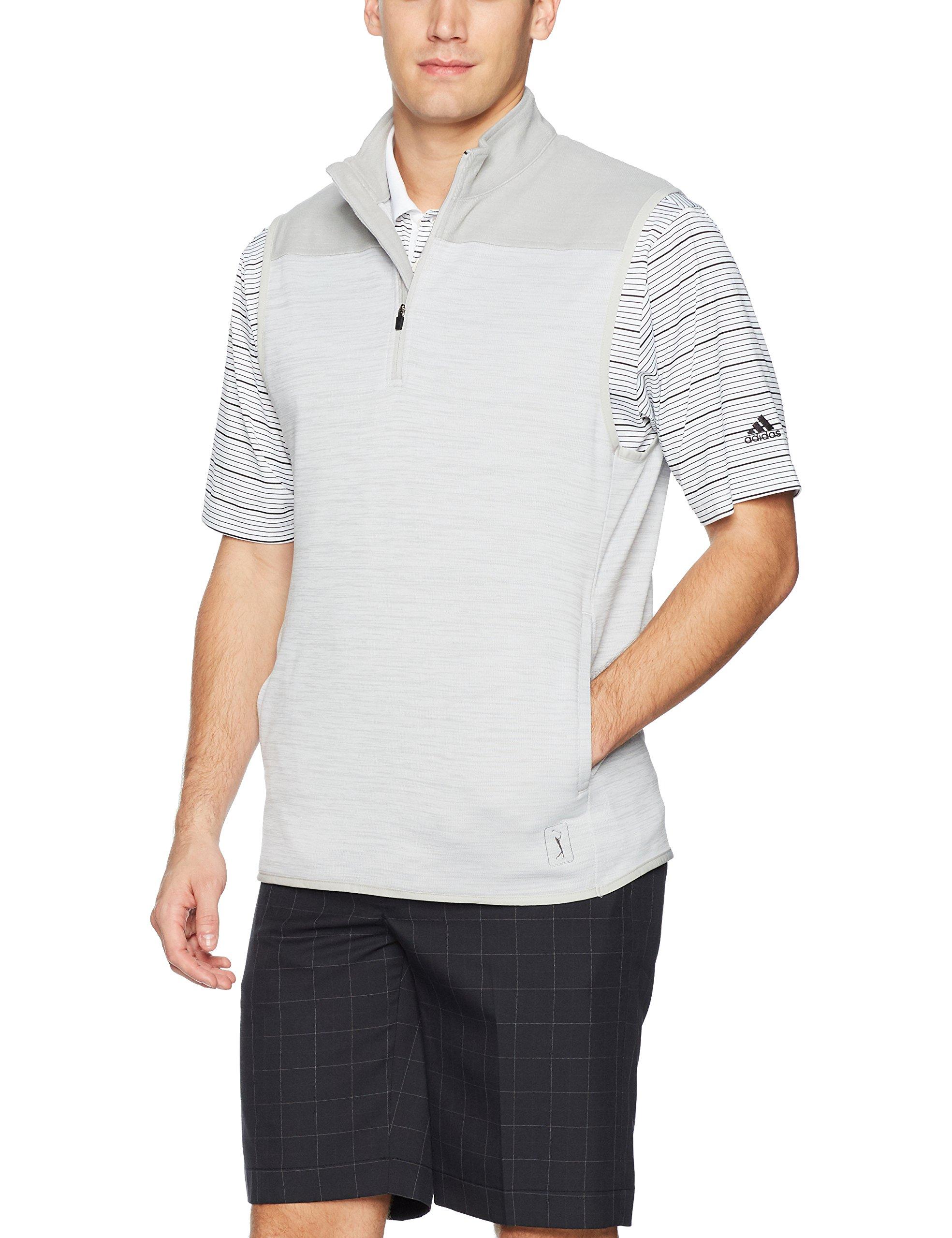 PGA TOUR Men's Elements Sleeveless 1/4 Zip Vests, High Rise Heather_PVKF70G3, XL by PGA TOUR