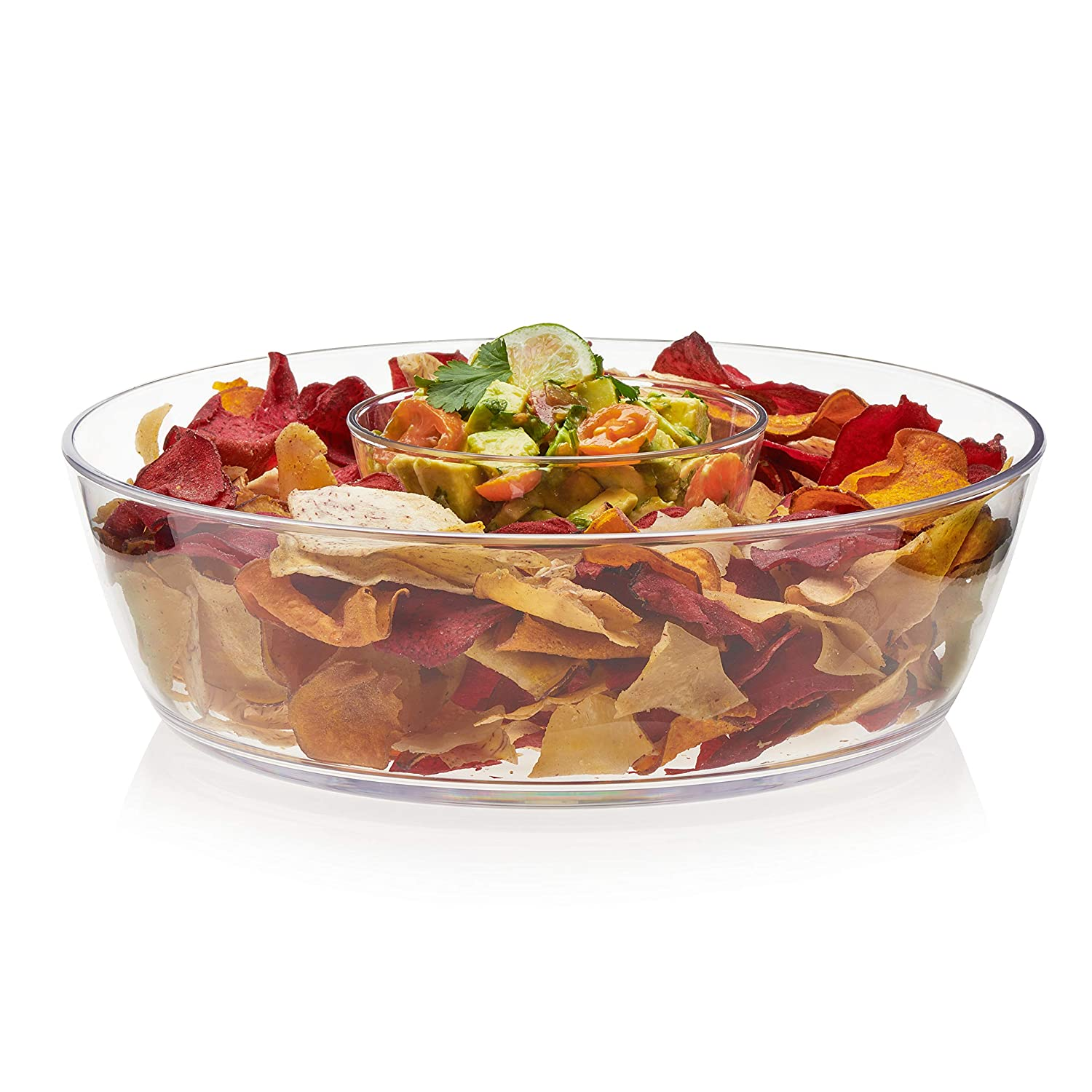 Libbey Indoors Out 2-Piece Break-Resistant Chip and Dip Bowl Set