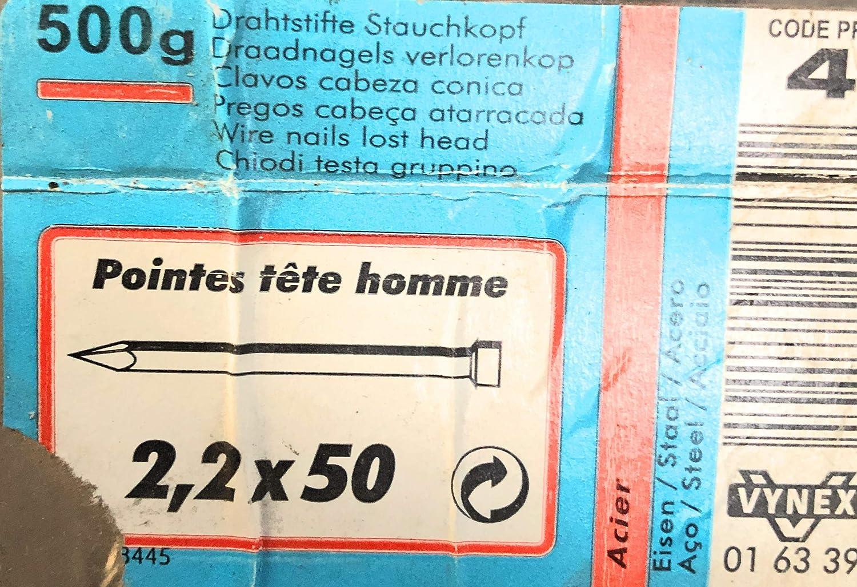 POINTES CLOUS T/ÊTE HOMME 2,2x50 500g