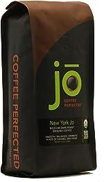 NEW YORK JO: 12 oz, Medium Dark Roast Organic Ground Coffee,