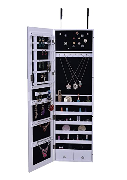 Amazoncom BTExpert Premium Wooden Jewelry Armoire Wall Mount